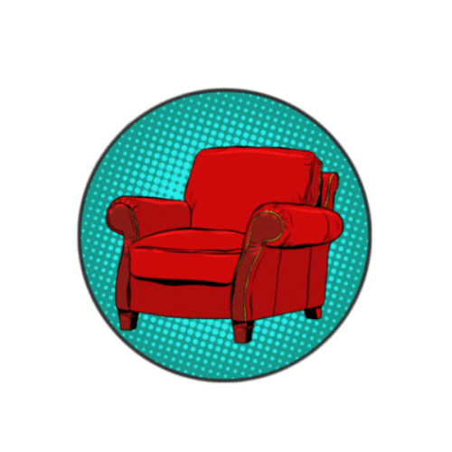 chair logo of the Armchair Dreamer