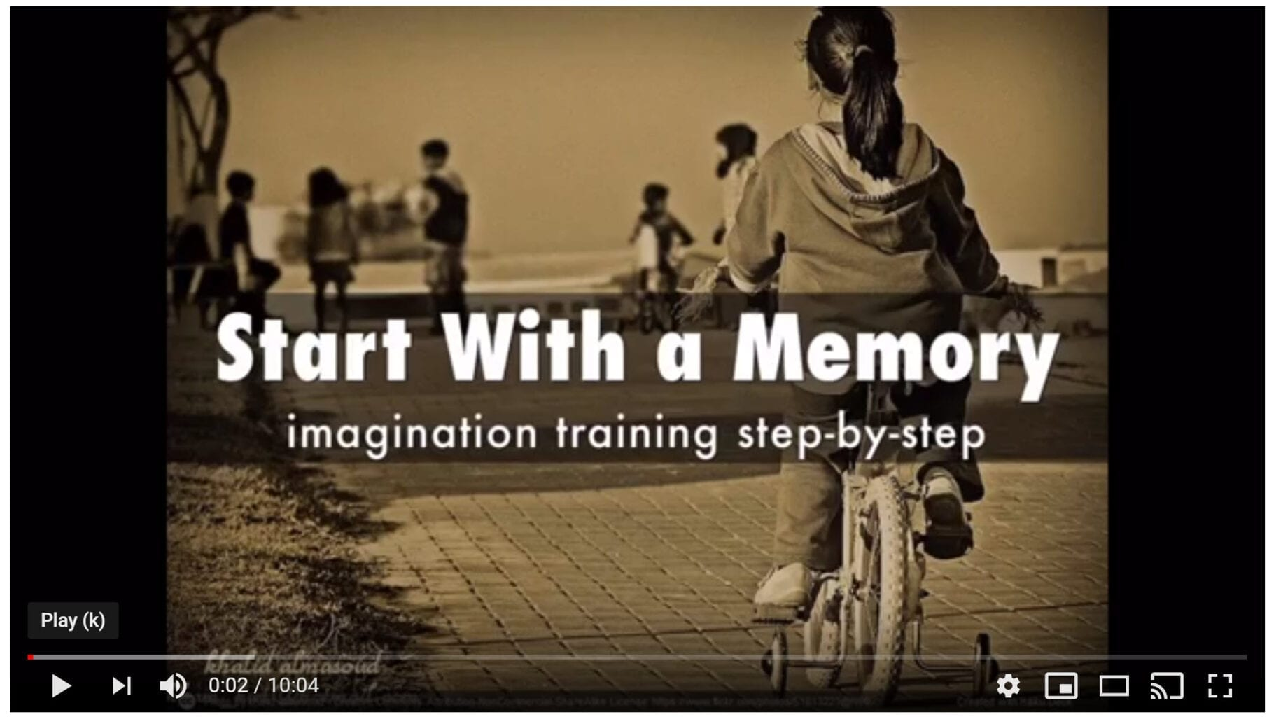 Getting Started with a Memory – Visualize Video –  Imagine Video